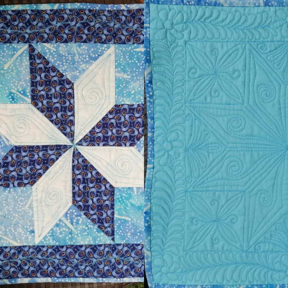 Priyanka Jain was very proud to share her y-seams and the machine quilting skills. The virtual workshop for Le Moyne Star was conducted by Rohini Desai in July.
